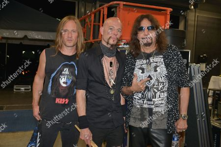 Stock Picture of (R-L) Ace Frehley, Matt Star and Phil Shouse