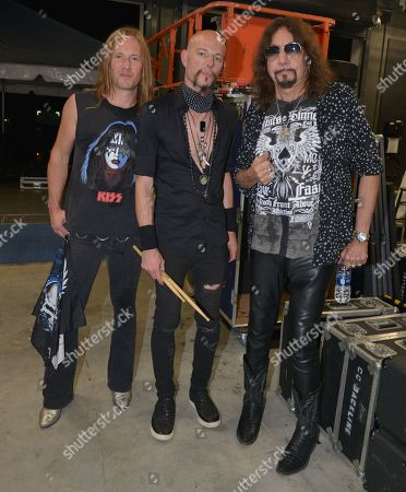 Stock Image of (R-L) Ace Frehley, Matt Star and Phil Shouse
