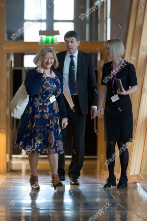 Scottish Parliament First Minister's Questions - Linda Fabiani, Deputy Presiding Officer of The Scottish Parliament, and Ken Macintosh, The Presiding Officer of The Scottish Parliament, make their way to the Debating Chamber.
