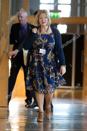 Scottish Parliament First Minister's Questions - Linda Fabiani, Deputy Presiding Officer of The Scottish Parliament, makes her way to the Debating Chamber.