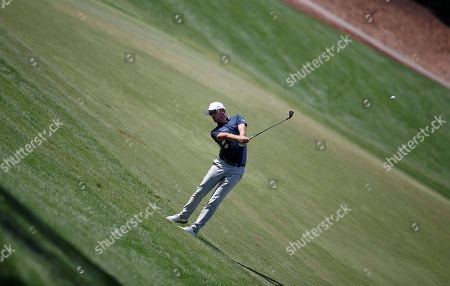 Alexander Bjork of Sweden plays a shot during the first round of the DP World Tour Championship European Tour Golf tournament 2018 at Jumeirah Golf Estates in Dubai, United Arab Emirates, 15 November 2018.