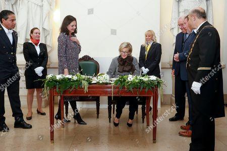 Stock Photo of Princess Astrid of Belgium, Christine Defraigne