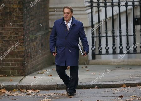 Stock Picture of Conservative MP John Hayes arrives in Downing street in London, . Two British Cabinet ministers, including Brexit Secretary Dominic Raab, resigned Thursday in opposition to the divorce deal struck by Prime Minister Theresa May with the EU ? a major blow to her authority and her ability to get the deal through Parliament