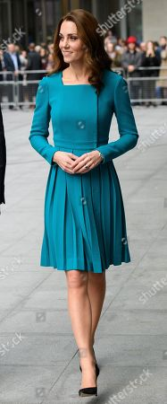 Stock Image of Catherine Duchess of Cambridge at the BBC to highlight work to combat cyberbullying