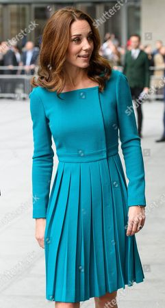 Stock Photo of Catherine Duchess of Cambridge at the BBC to highlight work to combat cyberbullying