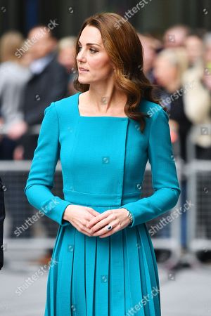 Prince William and Catherine Duchess of Cambridge visit to the BBC, London