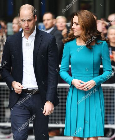 Prince William and Catherine Duchess of Cambridge at the BBC to highlight work to combat cyberbullying
