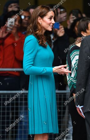 Catherine Duchess of Cambridge at the BBC to highlight work to combat cyberbullying