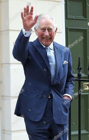 Prince Charles departs The Royal Society of Musicians of Great Britain after visitng new headquarters