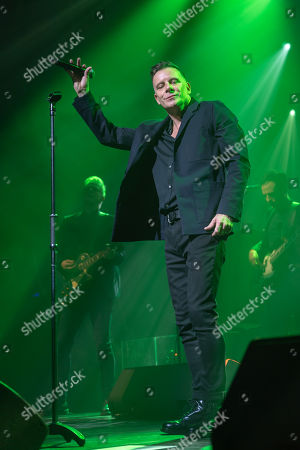 Stock Image of Ricky Ross from Scottish pop rock band Deacon Blue performs in Dublin's Olympia Theater.
