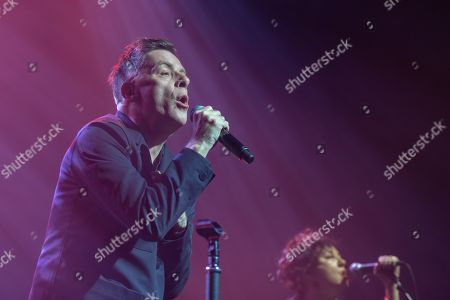 Stock Photo of Ricky Ross from Scottish pop rock band Deacon Blue performs in Dublin's Olympia Theater.