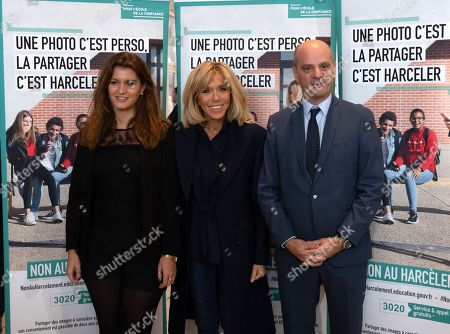 Brigitte Macron visits a school to raise awareness about bullying, Clamart