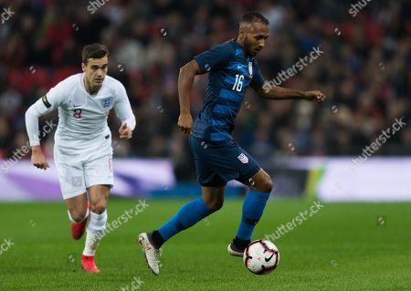 Stock Image of Harry Winks of England and Julian Green of USA