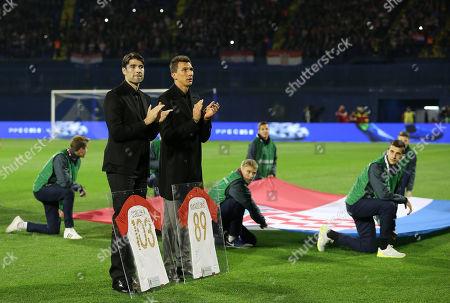 Stock Picture of Vedran Corluka and Mario Mandzukic of Croatia retiring from international football