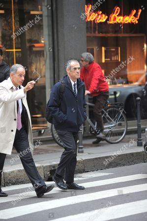 Editorial photo of Carlo Cottarelli out and about, Milan, Italy - 15 Nov 2018