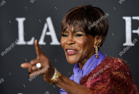"""Cicely Tyson, a cast member in """"Last Flag Flying,"""" poses at the premiere of the film at the Directors Guild of America in Los Angeles. Tyson is finally getting her Oscar 45 years after her first and only nomination. Tyson is being celebrated at the 10th annual Governors Awards in Hollywood alongside publicist Marvin Levy and composer Lalo Schifrin. Tyson has won Emmys, a Tony, been a Kennedy Center honoree and was given a Presidential Medal of Freedom, but says that she is grateful to the film academy's board for the honor"""