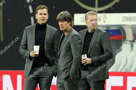 Teammanager Oliver Bierhoff, Trainer Joachim Loew, goalkeepertrainer Andreas Koepke  