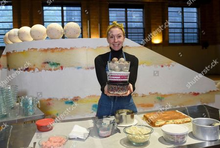 Christina Tosi, founder, chef and owner of Milk Bar, introduces her new collection of Pyrex x Tosi decorated glass storage containers at a baking class event in New York City, Thursday, Nov. 15. 2018