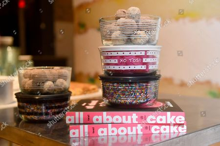 Stock Photo of Christina Tosi, founder, chef and owner of Milk Bar, introduces her new collection of Pyrex x Tosi decorated glass storage containers at a baking class event in New York City, Thursday, Nov. 15. 2018