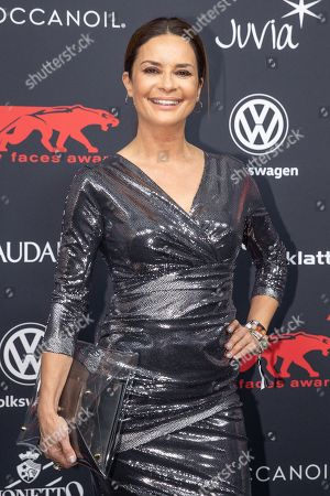 Gitta Saxx arrives for the New Faces Award 2018 ceremony in Berlin, Germany, 15 November 2018. The New Faces Award is a young talent prize that has been presented by the German weekly Bunte since 1998.