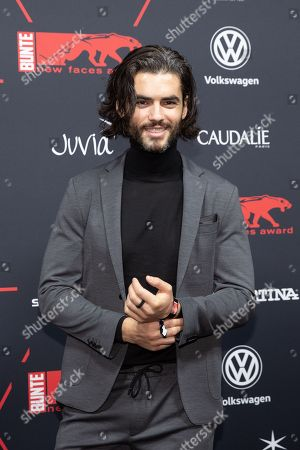 Nik Xhelilaj arrives for the New Faces Award 2018 in Berlin, Germany, 15 November 2018. The New Faces Award is a young talent award that has been awarded since 1998 by the German weekly Bunte.