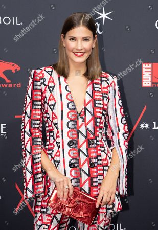 Stock Picture of Winner of the Style Influencer award Nina Schwichtenberg arrives for the New Faces Award 2018 ceremony in Berlin, Germany, 15 November 2018. The New Faces Award is a young talent prize that has been presented by the German weekly Bunte since 1998.