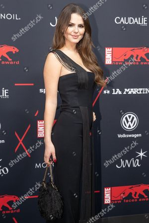 Winner of the Young Style Icon award Ruby O. Fee arrives for the New Faces Award 2018 ceremony in Berlin, Germany, 15 November 2018. The New Faces Award is a young talent prize that has been presented by the German weekly Bunte since 1998.