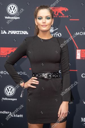 Vanessa Fuchs arrives for the New Faces Award 2018 ceremony in Berlin, Germany, 15 November 2018. The New Faces Award is a young talent prize that has been presented by the German weekly Bunte since 1998.