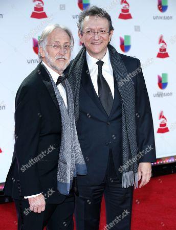 Stock Image of Neil Portnow, Gabriel Abaroa. Neil Portnow, president of the Recording Academy, left, and Gabriel Abaroa, president and CEO of the Latin Recording Academy,
