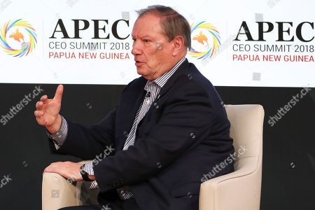 Co-chairman of the Pacific Economic Co-operation Council Donald Campbell speaks during the APEC CEO Summit 2018 in Port Moresby, Papua New Guinea, 16 November 2018. The 30th Asia-Pacific Economic Cooperation (APEC) summit brings together world leaders from its 21 Pacific Rim member nations and is being hosted for the first time by Papua New Guinea on 17 and 18 November 2018.