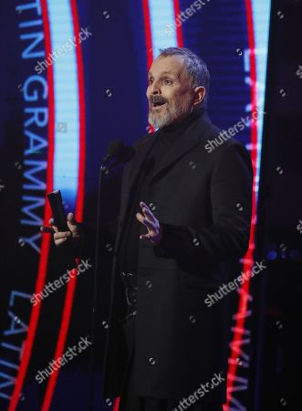 Miguel Bose during the 19th Annual Latin Grammy Awards ceremony at the MGM Grand Garden Arena in Las Vegas, Nevada, USA, 15 November 2018. The Latin Grammy Awards recognize artistic and/or technical achievement, not sales figures or chart positions, and the winners are determined by the votes of their peers, the qualified voting members of the academy.