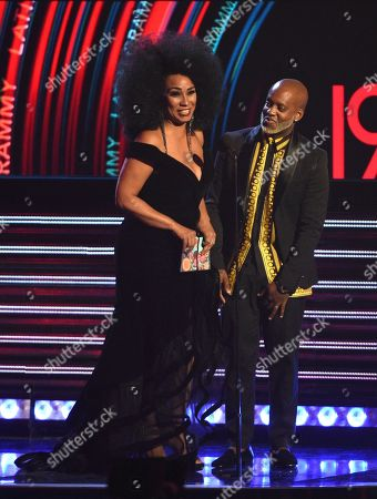 Aymee Nuviola, Willy William. Aymee Nuviola, left, and Willy William present the award for best urban song at the Latin Grammy Awards, at the MGM Grand Garden Arena in Las Vegas