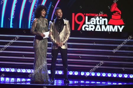 Raquel Sofia, Wilson Cruz. Raquel Sofia, left, and Wilson Cruz present the award for best urban fusion/performance