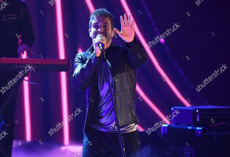 "Pablo Alboran performs ""No Vaya A Ser"" at the Latin Grammy Awards, at the MGM Grand Garden Arena in Las Vegas"