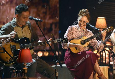 Jorge Drexler, Natalia Lafourcade. Jorge Drexler, left, and Natalia Lafourcade perform 'Telefonia'