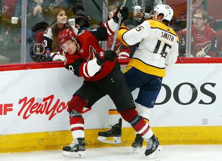 Editorial photo of Predators Coyotes Hockey, Glendale, USA - 15 Nov 2018