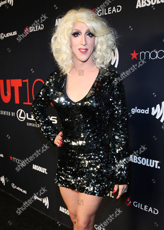 Marti Gould Cummings attends the OUT Magazine's OUT100 Celebration Presented by Lexus, held at Quixote Studios, West Hollywood, California, USA - 15 Nov 2018
