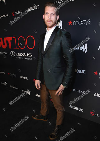 Stock Image of Adrian Salpeter attends the OUT Magazine's OUT100 Celebration Presented by Lexus, held at Quixote Studios, West Hollywood, California, USA - 15 Nov 2018