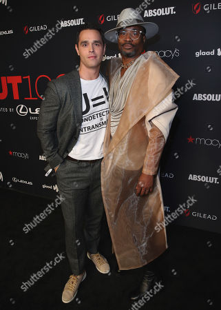 Karl Schmid attends the OUT Magazine's OUT100 Celebration Presented by Lexus, held at Quixote Studios, West Hollywood, California, USA - 15 Nov 2018