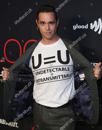 Stock Image of Karl Schmid attends the OUT Magazine's OUT100 Celebration Presented by Lexus, held at Quixote Studios, West Hollywood, California, USA - 15 Nov 2018