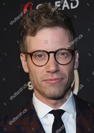 Barrett Foa attends the OUT Magazine's OUT100 Celebration Presented by Lexus, held at Quixote Studios, West Hollywood, California, USA - 15 Nov 2018