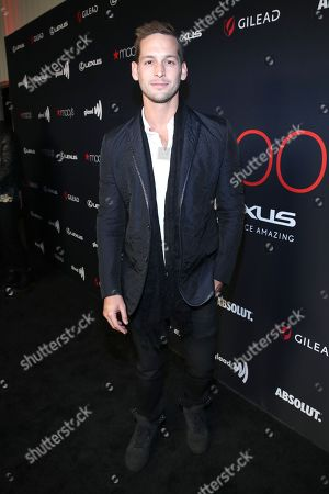 Max Emerson attends the OUT Magazine's OUT100 Celebration Presented by Lexus, held at Quixote Studios
