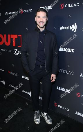 Raymond Braun attends the OUT Magazine's OUT100 Celebration Presented by Lexus, held at Quixote Studios