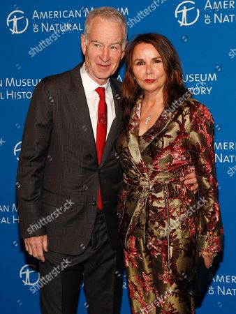 John McEnroe, Patty Smyth. John McEnroe, left, and Patty Smyth, right, attend the American Museum of Natural History's Gala, in New York