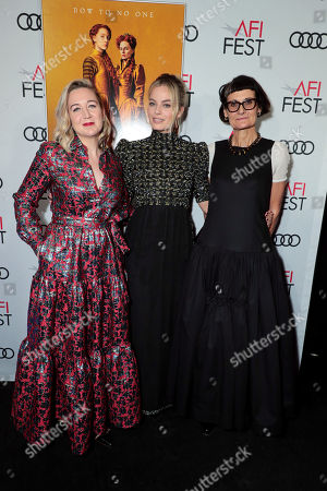 Stock Picture of Josie Rourke, Director, Margot Robbie, Alexandra Byrne, Costume Designer,