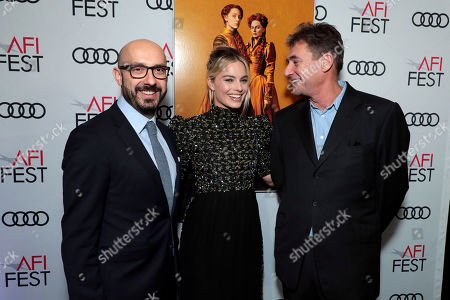 Stock Photo of Peter Kujawski, Chairman, Focus Features, Margot Robbie, Tom Bevan, Producer,