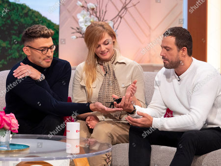 Jake Quickenden and Jamie Lomas with Stephanie Ryder