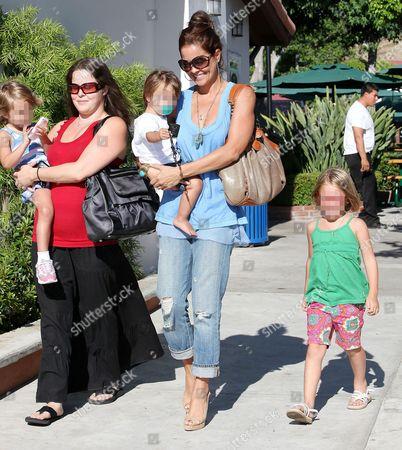 Nanny with Heaven Rain, Brooke Burke with Shaya Braven, and Neriah