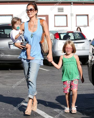 Brooke Burke with Shaya Braven, and Neriah