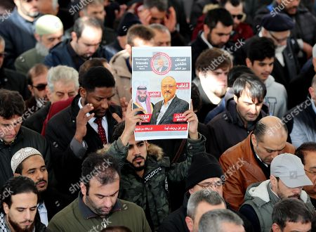 Prayers for murdered journalist Jamal Khashoggi at Fatih Mosque, Istanbul